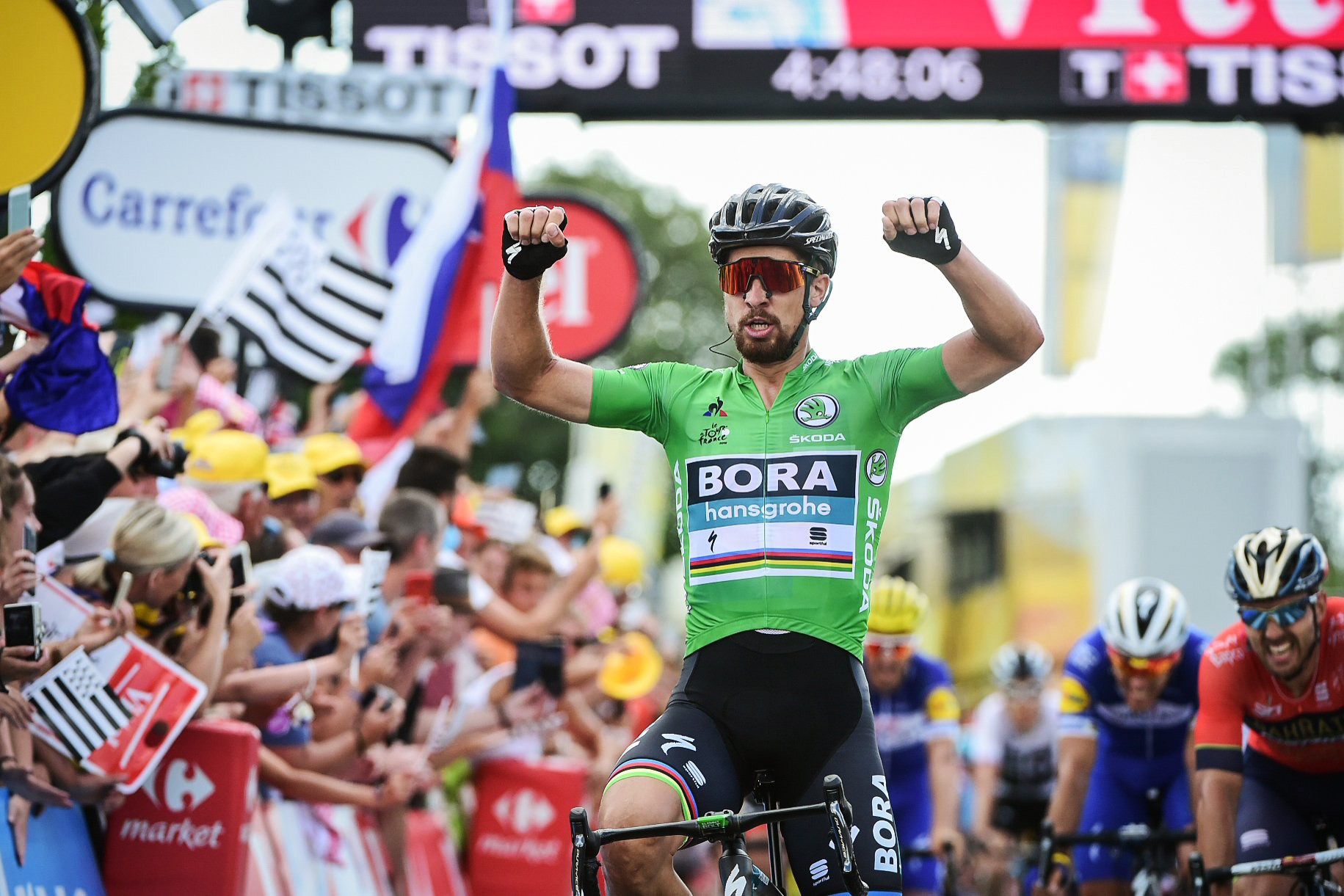 8138657f1d5c6 Sagan vyhral šiesty zelený dres na Tour de France a vyrovnal ...